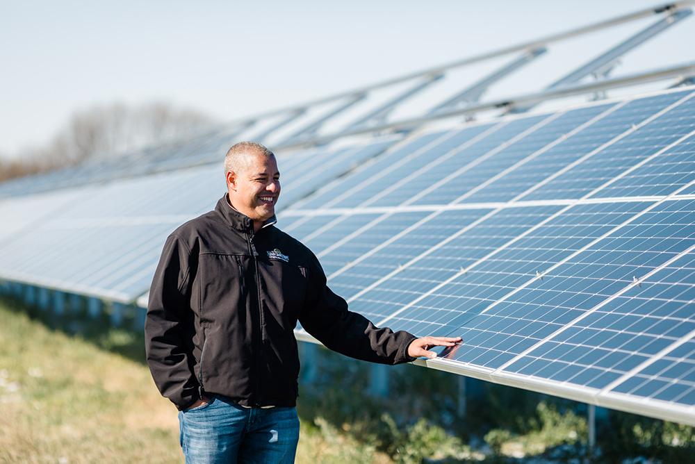 bifacial solar array