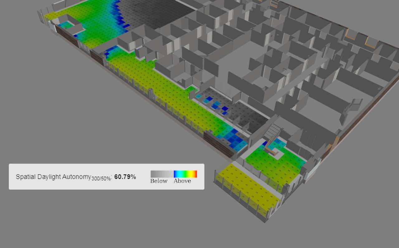spatial daylighting autonomy study