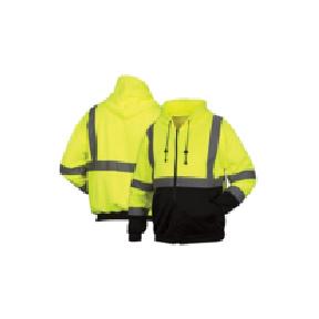 Pyramex - Hi-Vis Lime Zipper Sweatshirt with Black Bottom [RSZH3210X2]