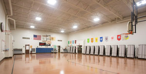 led lighting school gymnasium