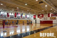 before led lighting school gymnasium