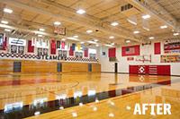 after led lighting school gymnasium