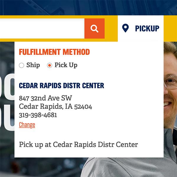 pickup online order