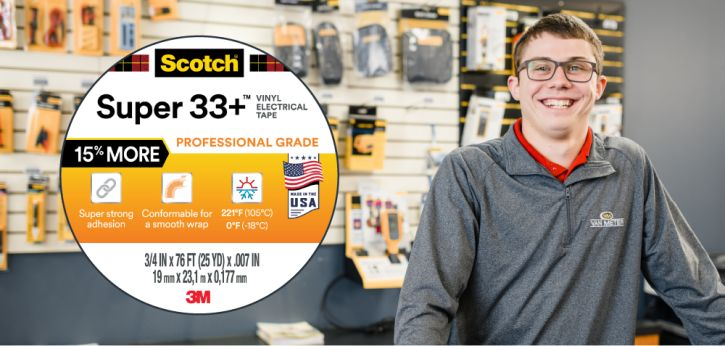3m scotch super 33+ vinyl electrical tape promotion